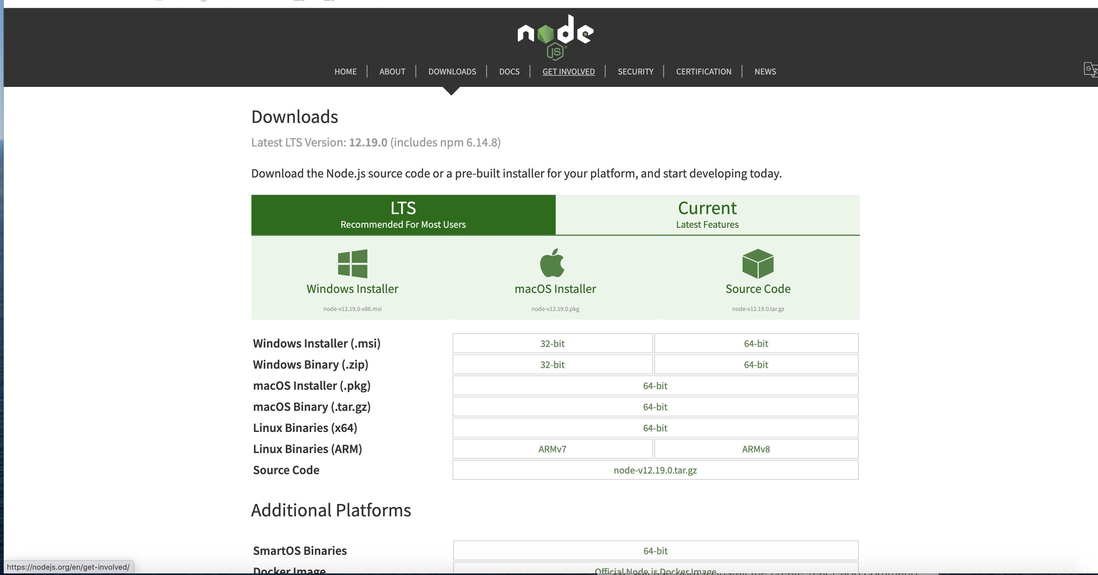 nodejs download
