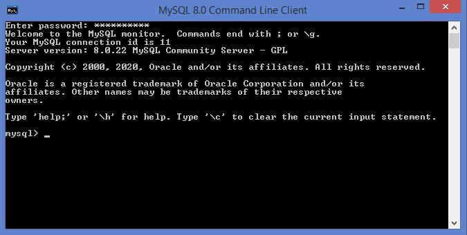 MySQL Command Line Client