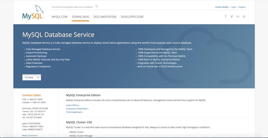Mysql website