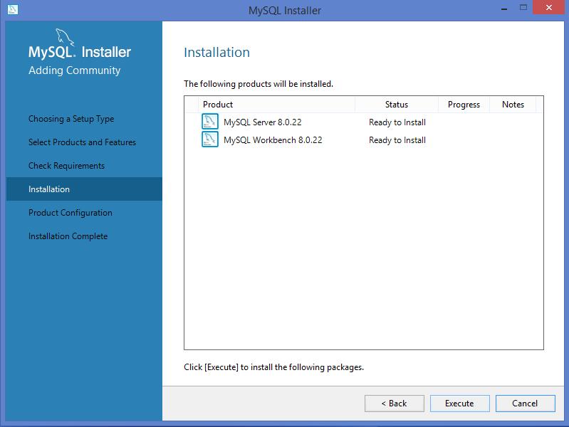 MSQL Windows installer: installation