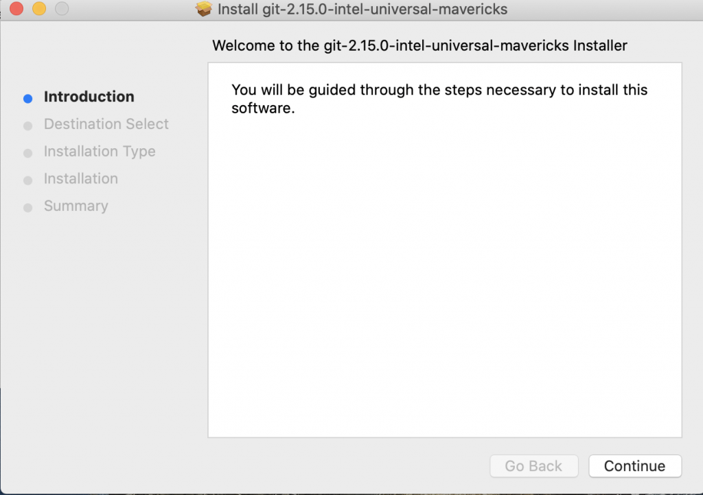 Git installation