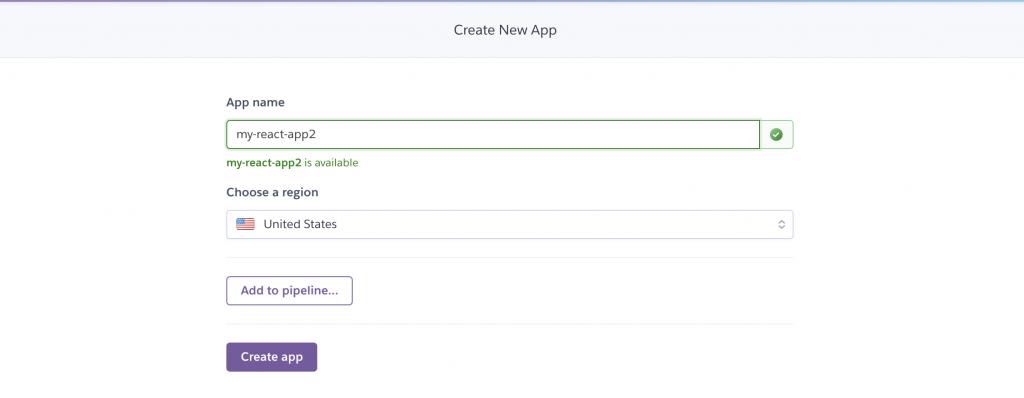 Heroku select app name